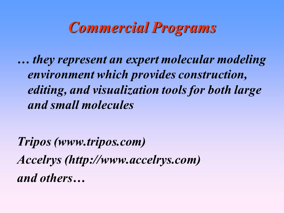 Commercial Programs
