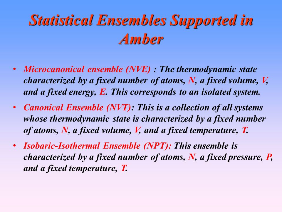 Statistical Ensembles Supported in