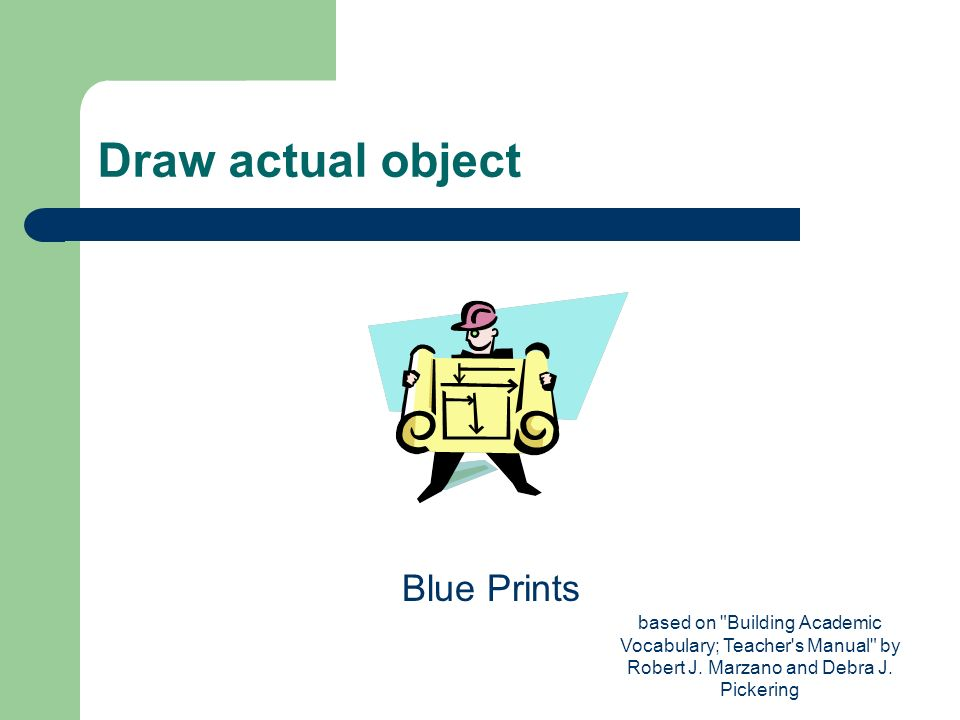 Draw actual object Blue Prints