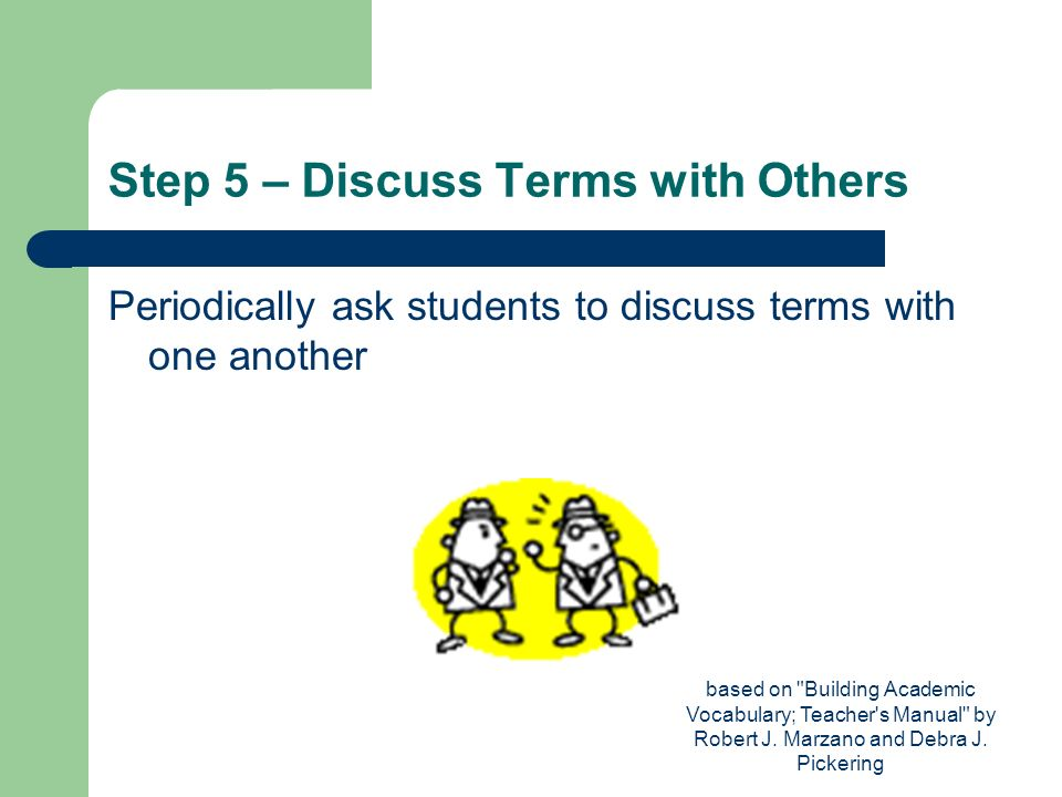 Step 5 – Discuss Terms with Others