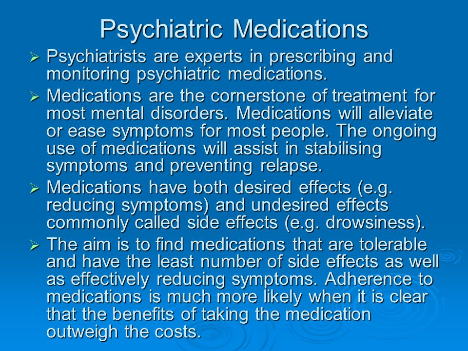 Psychiatric Medications