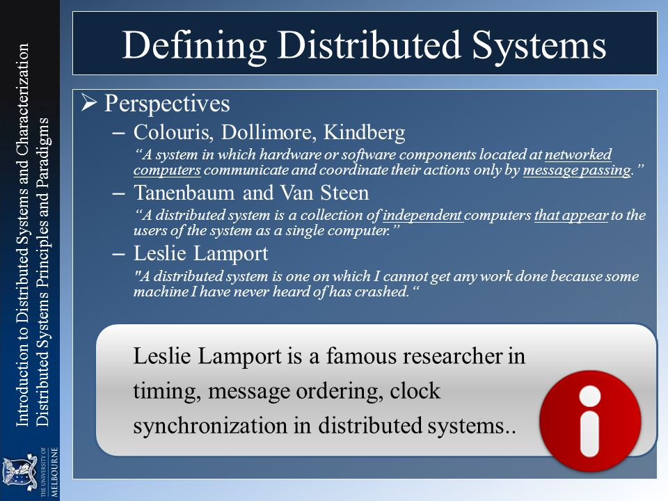 Defining Distributed Systems