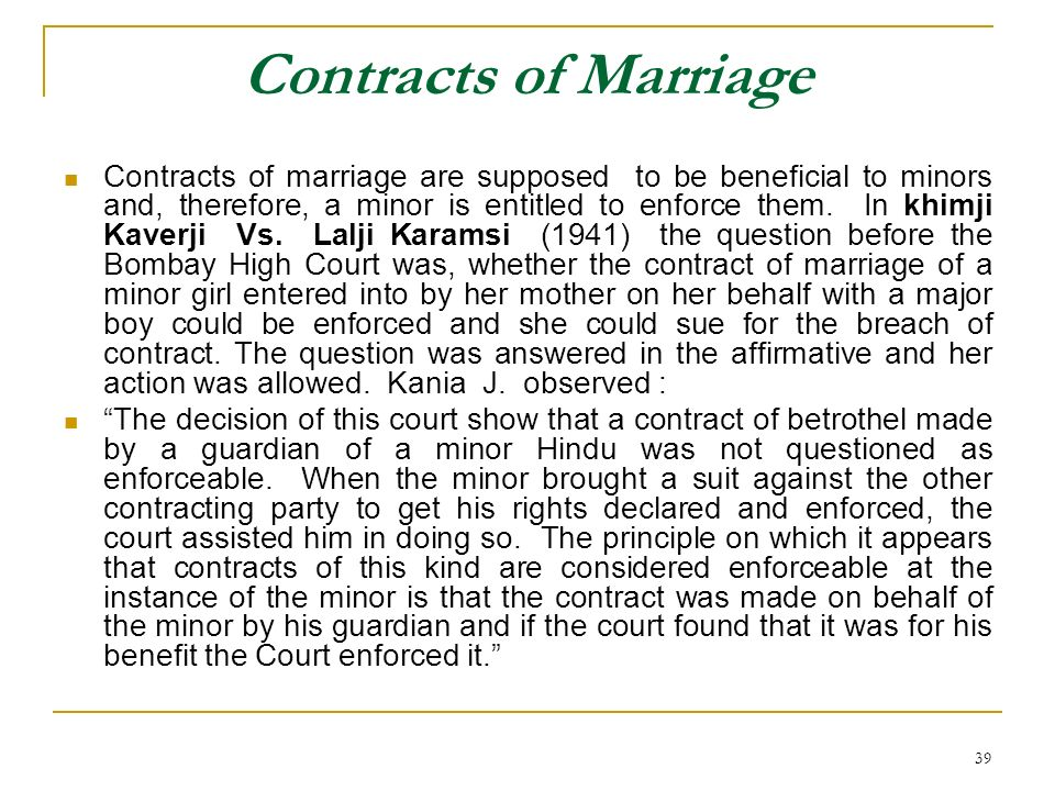 Contracts of Marriage