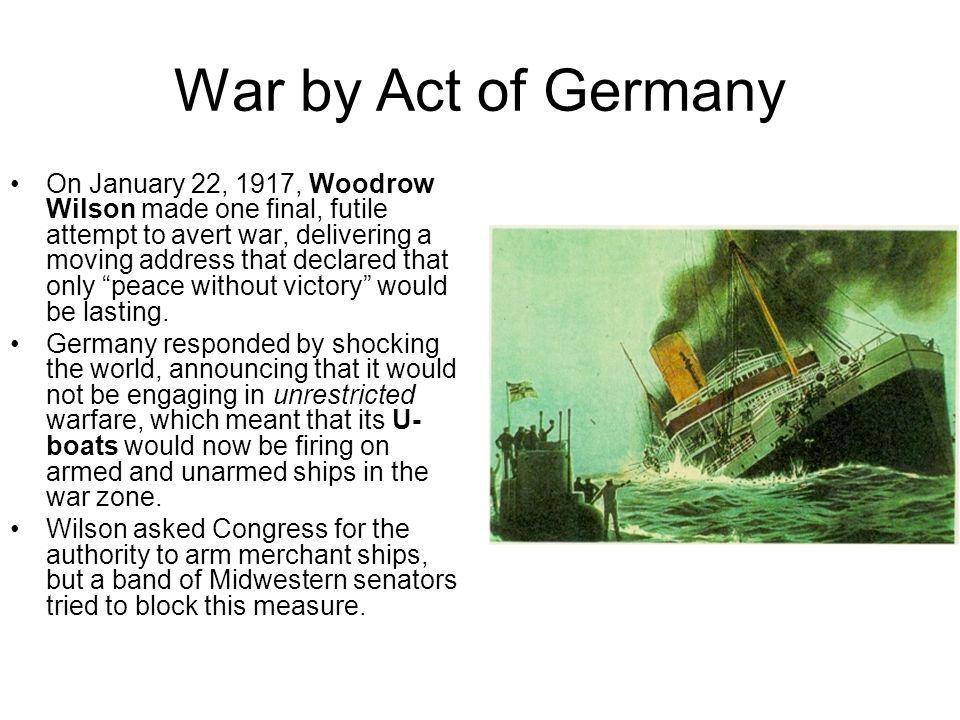 War by Act of Germany