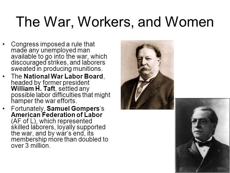 The War, Workers, and Women