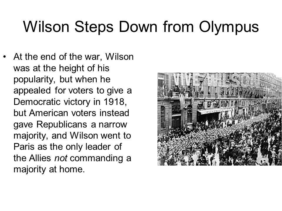 Wilson Steps Down from Olympus