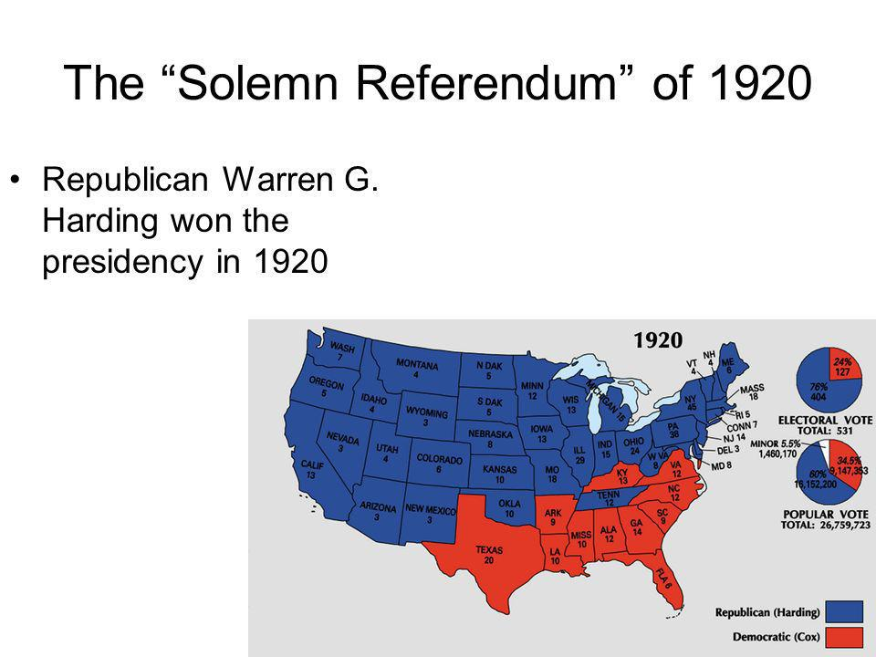 The Solemn Referendum of 1920