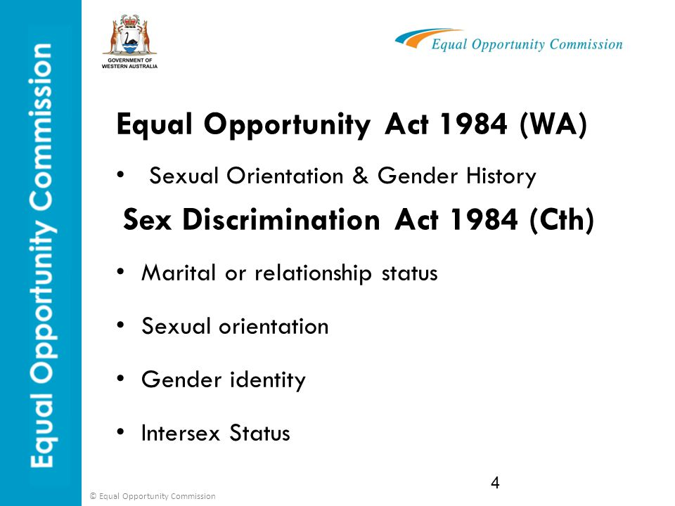 Sex discrimination act harassment