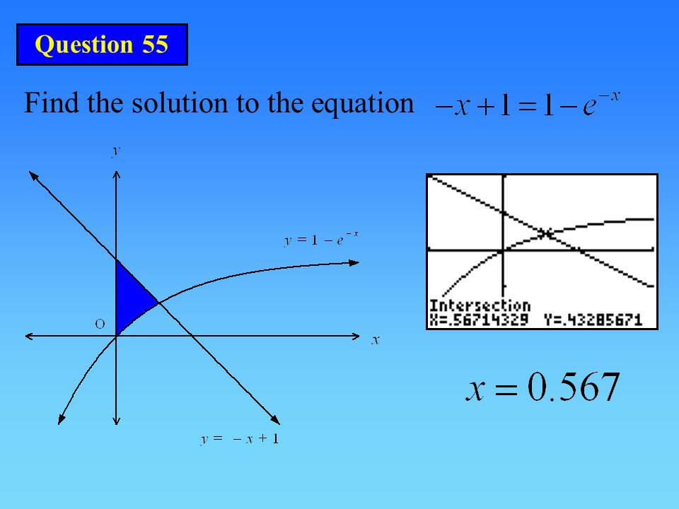 Find the solution to the equation