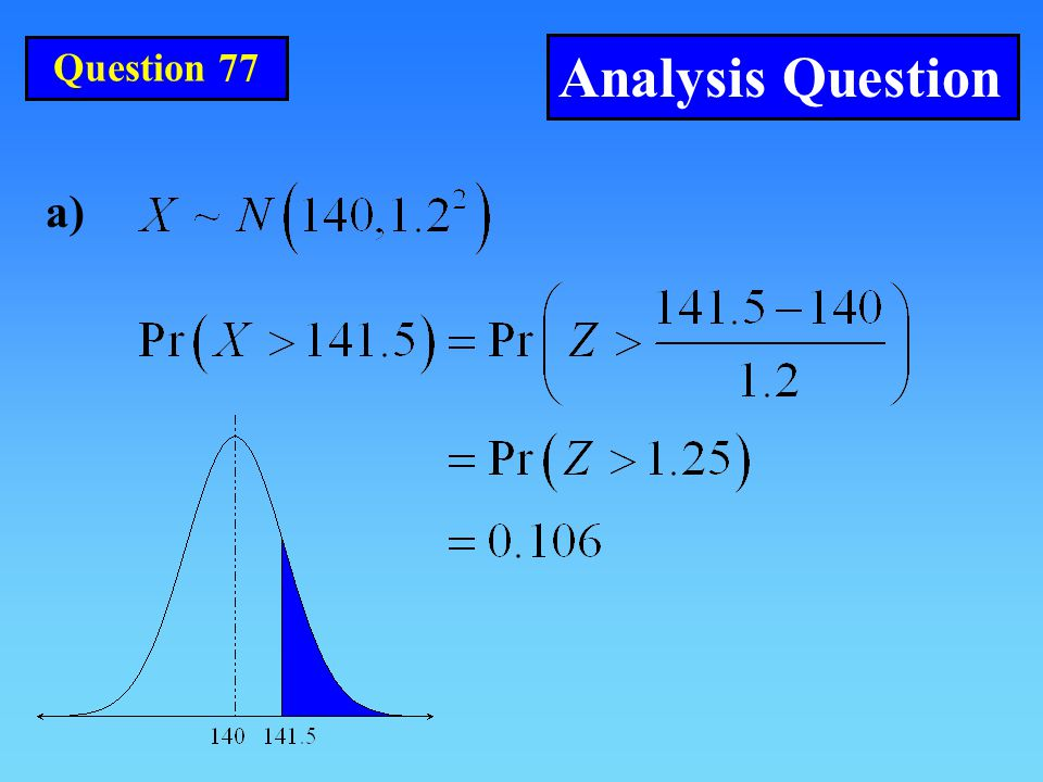 Question 77 Analysis Question a)