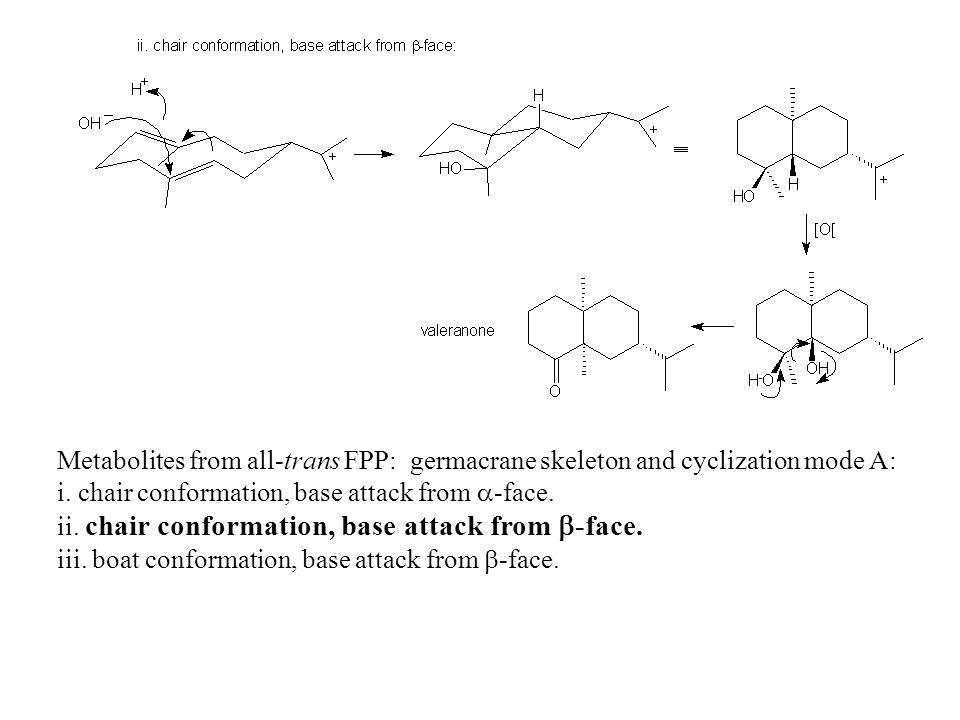 Metabolites from all-trans FPP: germacrane skeleton and cyclization mode A: