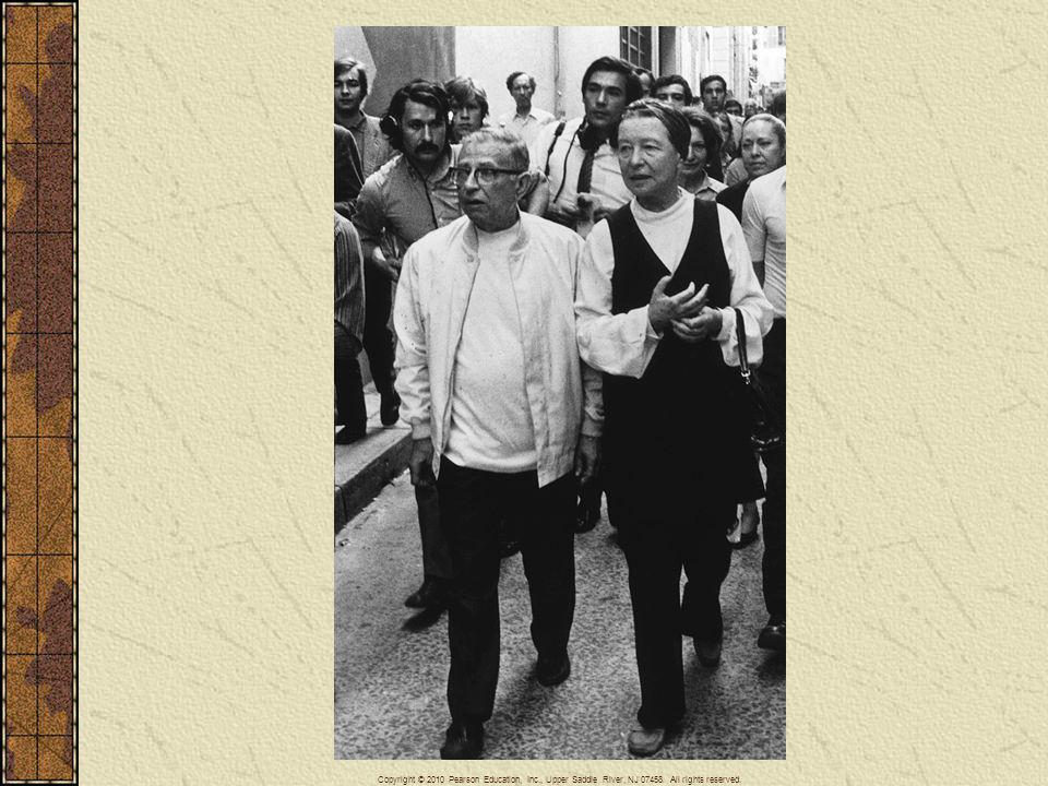 Simone de Beauvoir, here with her companion, the philosopher Jean-Paul Sartre, was the major feminist writer in postwar Europe.