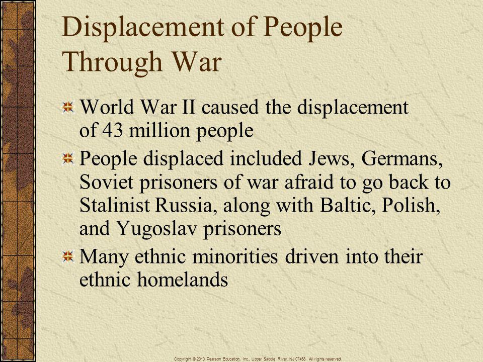 Displacement of People Through War