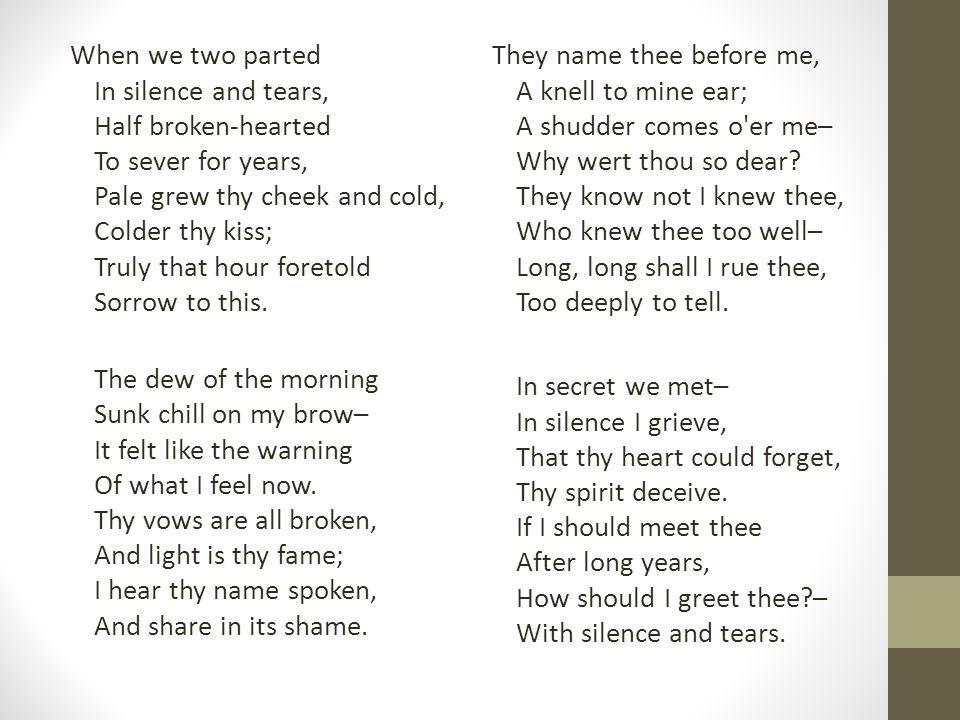 silence and tears