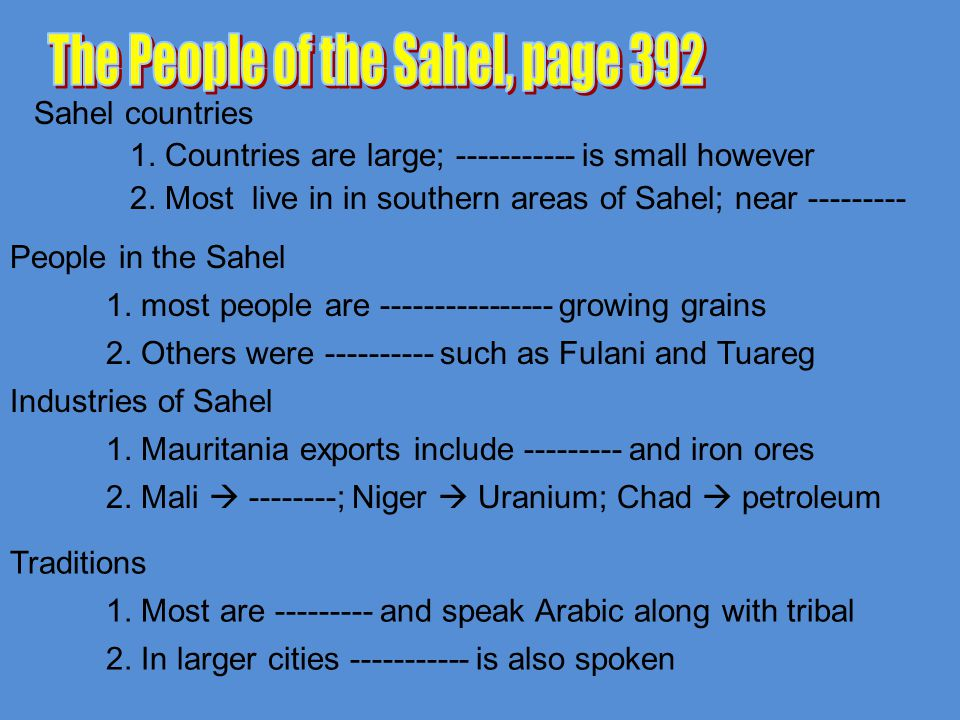 The People of the Sahel, page 392