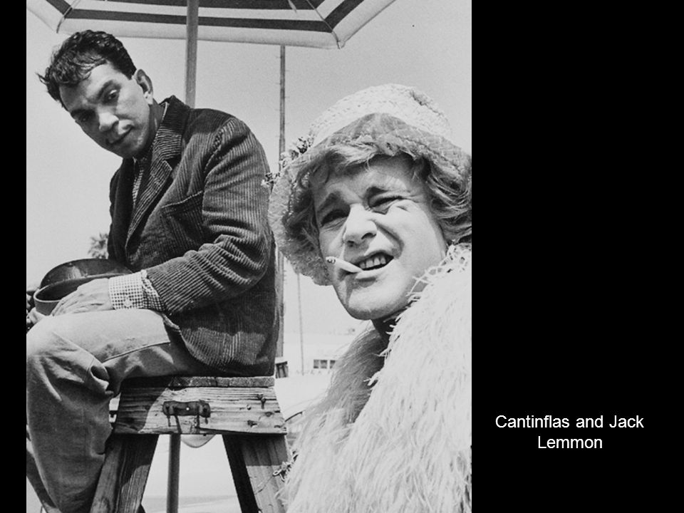 Cantinflas and Jack Lemmon