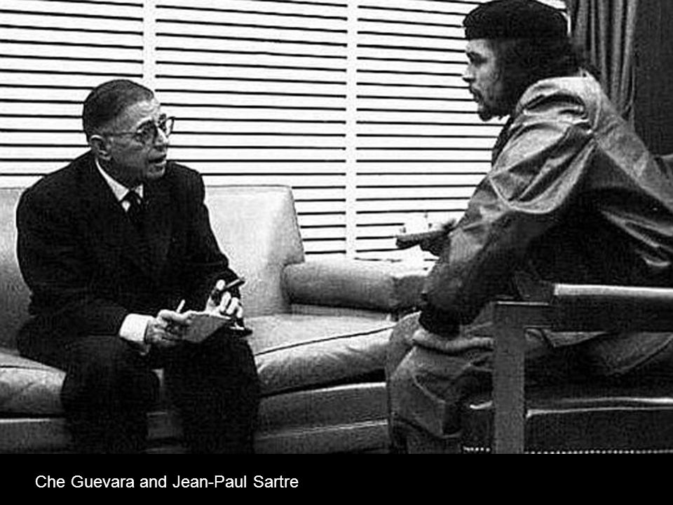 Che Guevara and Jean-Paul Sartre