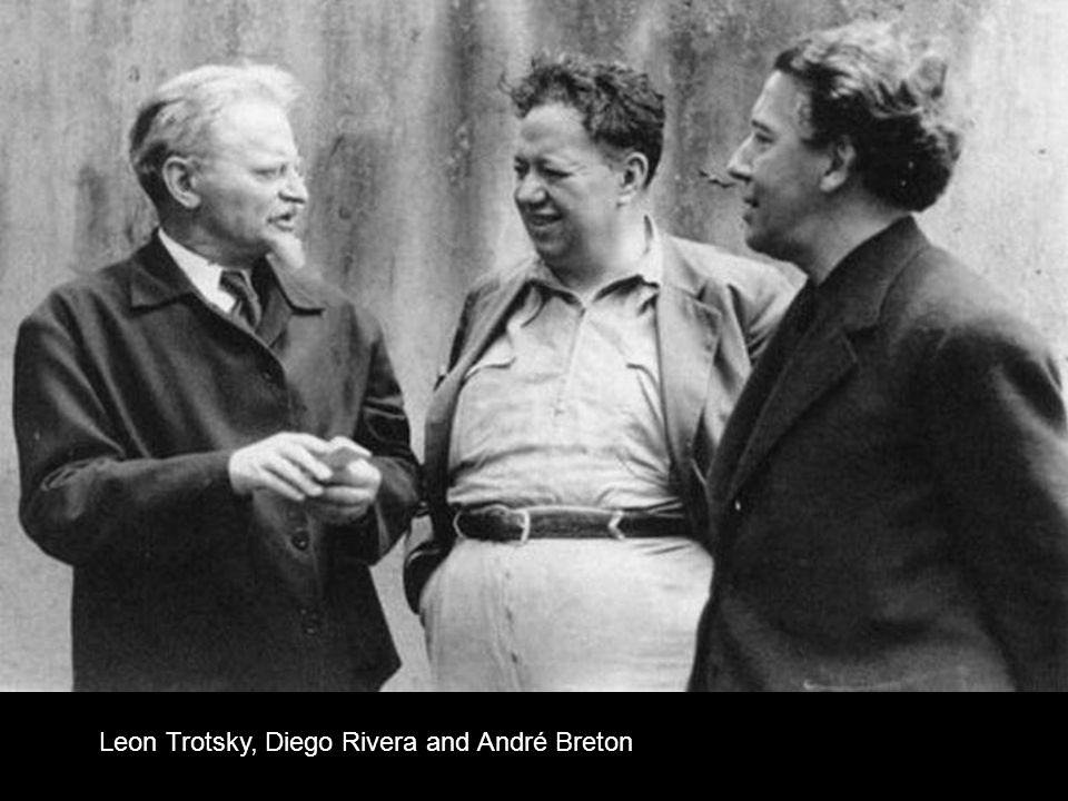 Leon Trotsky, Diego Rivera and André Breton