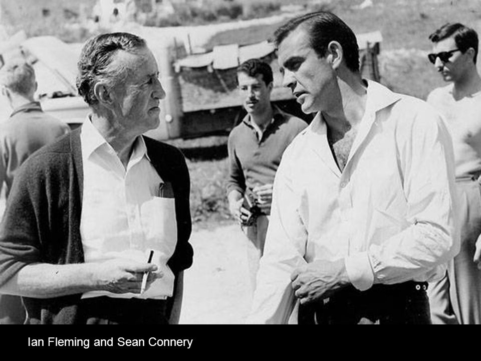 Ian Fleming and Sean Connery