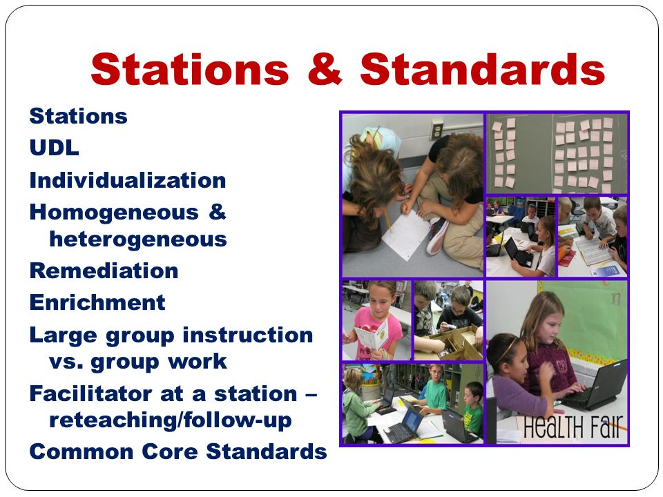 Stations & Standards