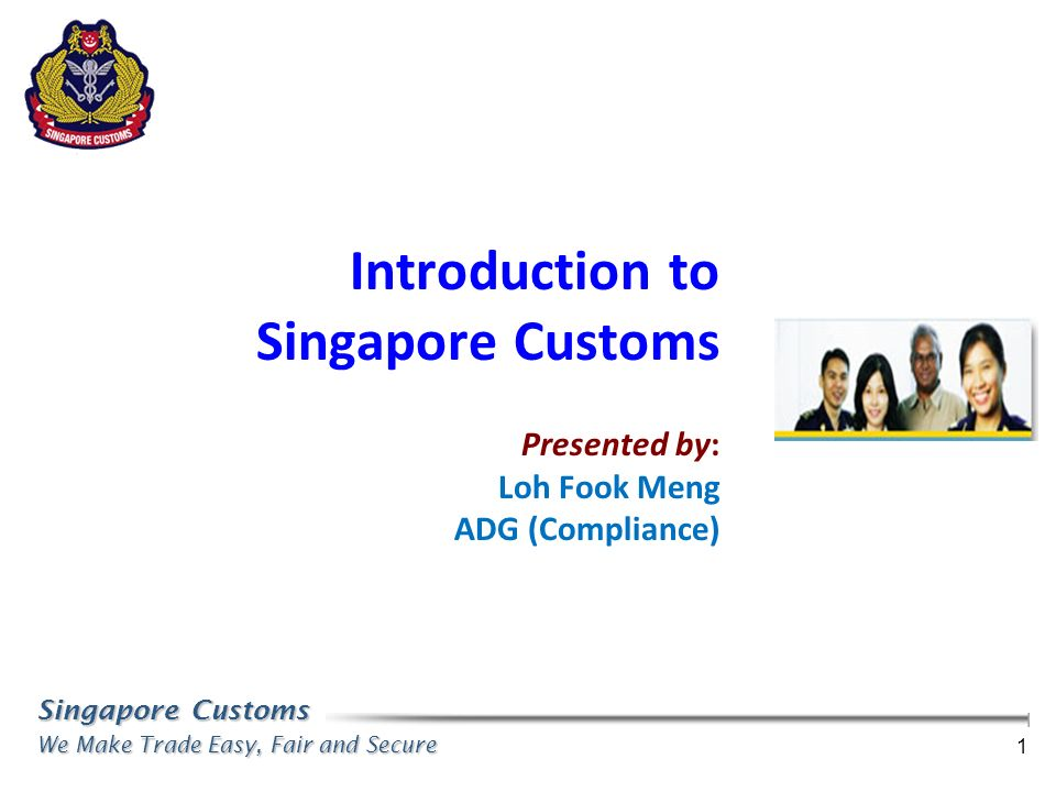 Introduction to Singapore Customs