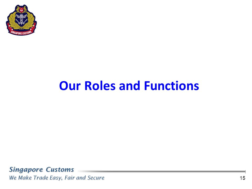 Our Roles and Functions