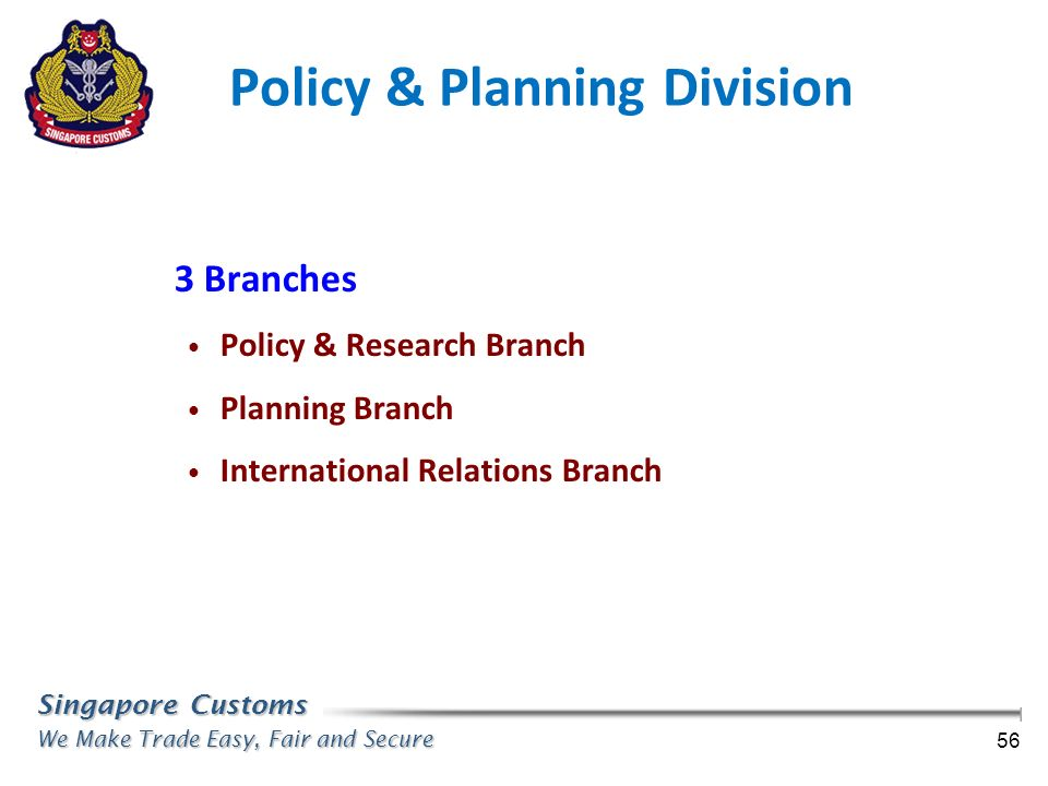 Policy & Planning Division