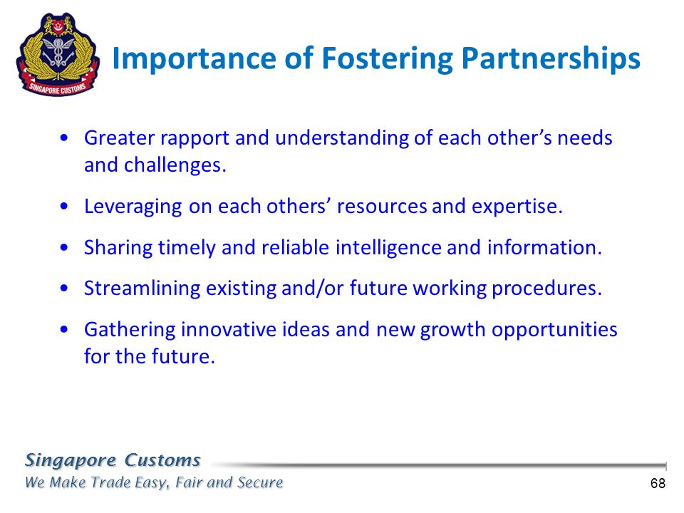 Importance of Fostering Partnerships
