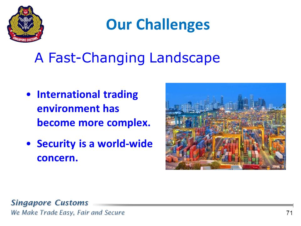 Our Challenges A Fast-Changing Landscape