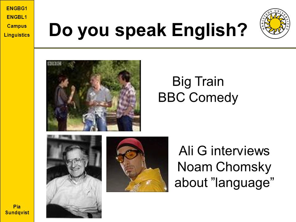 Do you speak English Big Train BBC Comedy Ali G interviews