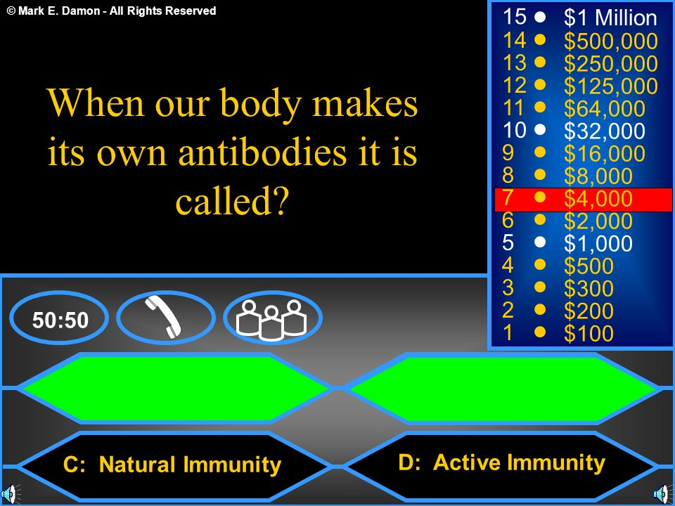 When our body makes its own antibodies it is called