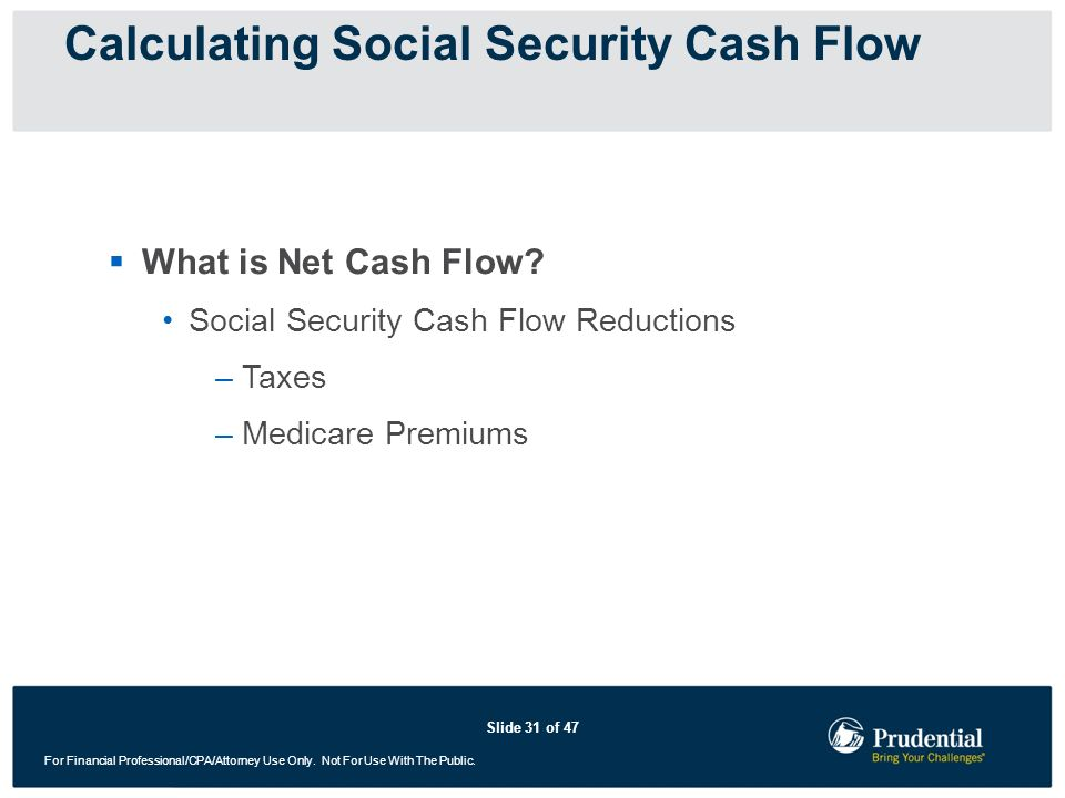 Calculating Social Security Cash Flow