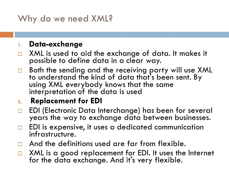 Why do we need XML Data-exchange