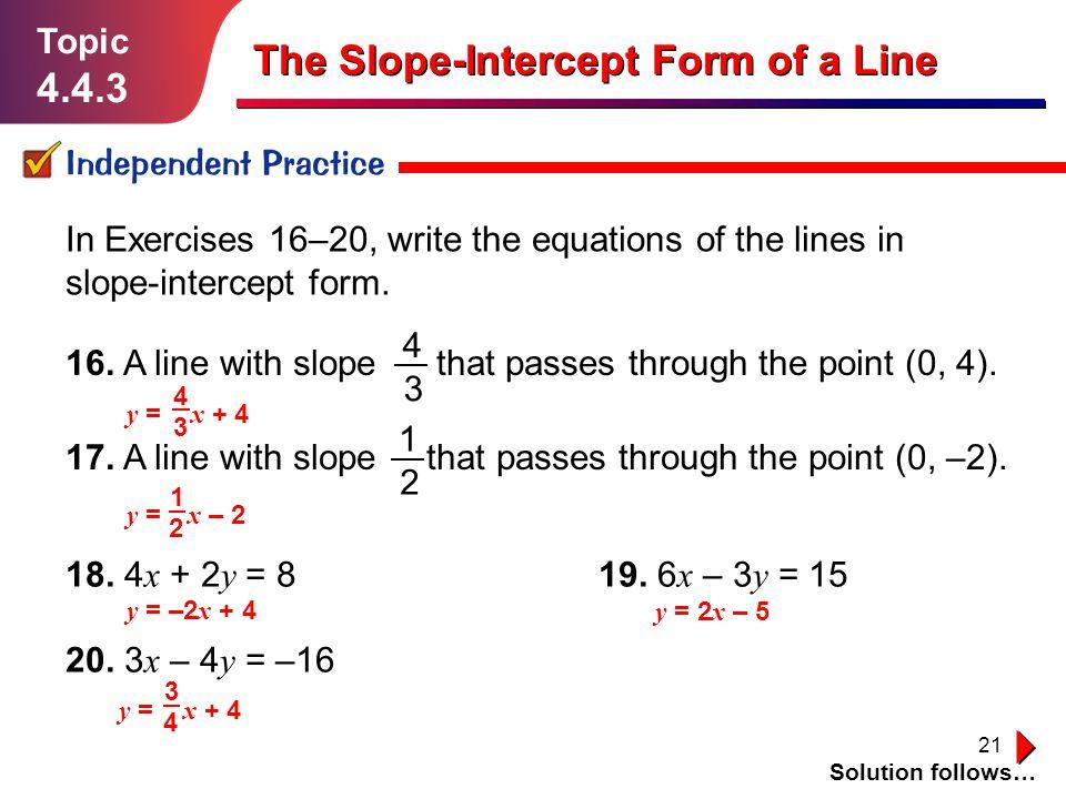 slope intercept form 3x-2y=-16  The Slope-Intercept Form of a Line - ppt video online download