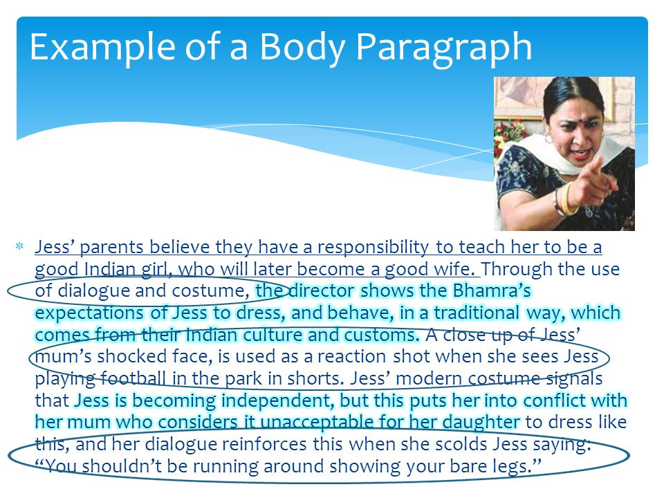Example of a Body Paragraph