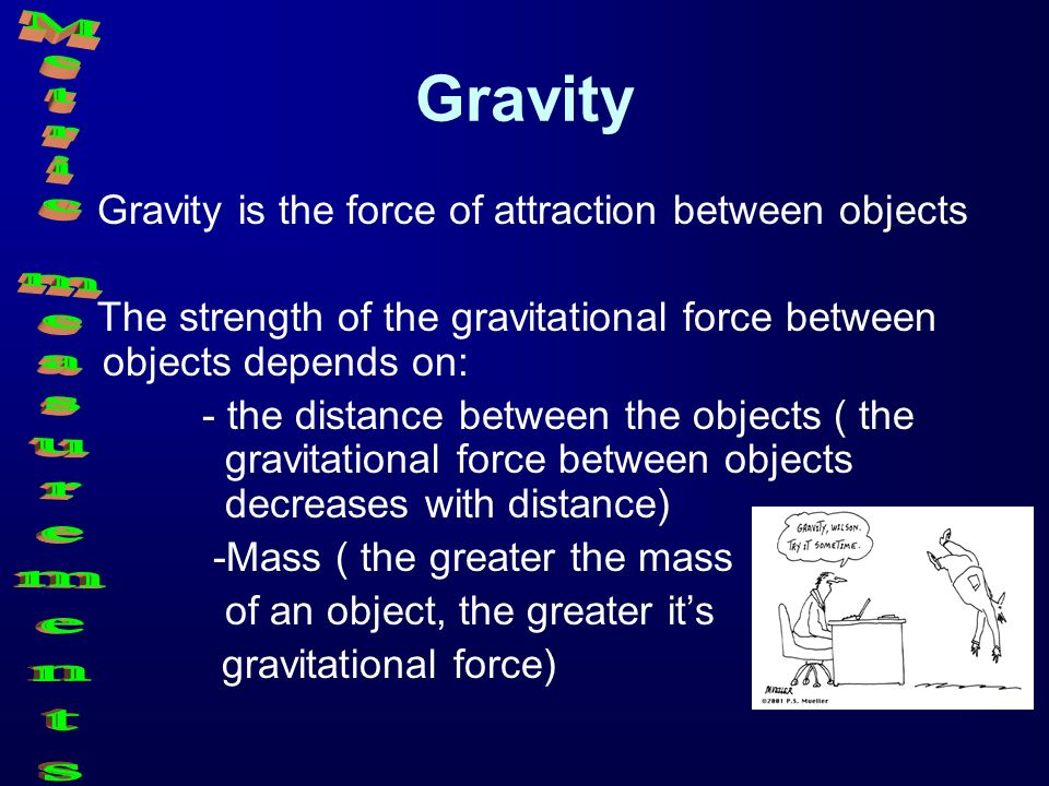 Gravity Metric measurements