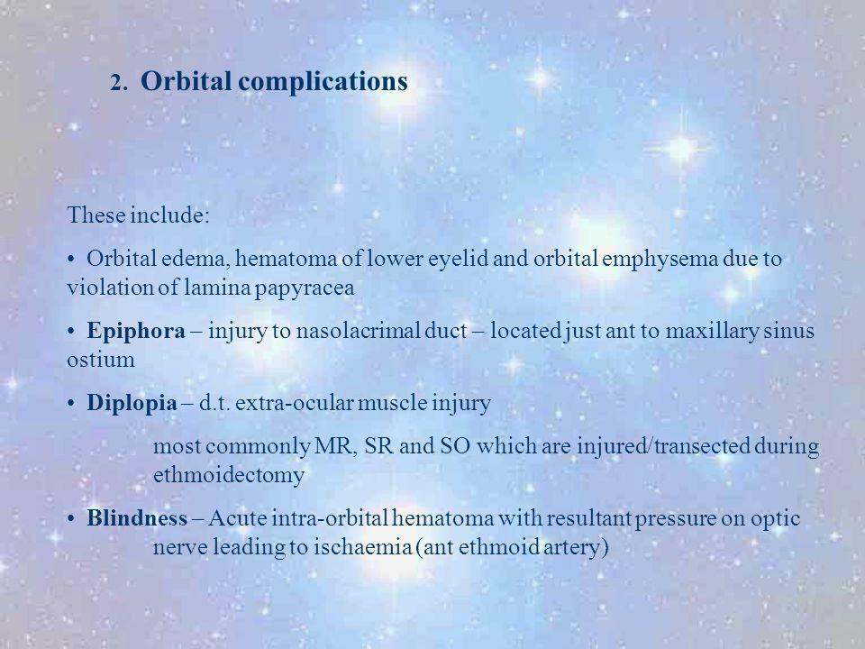 2. Orbital complications