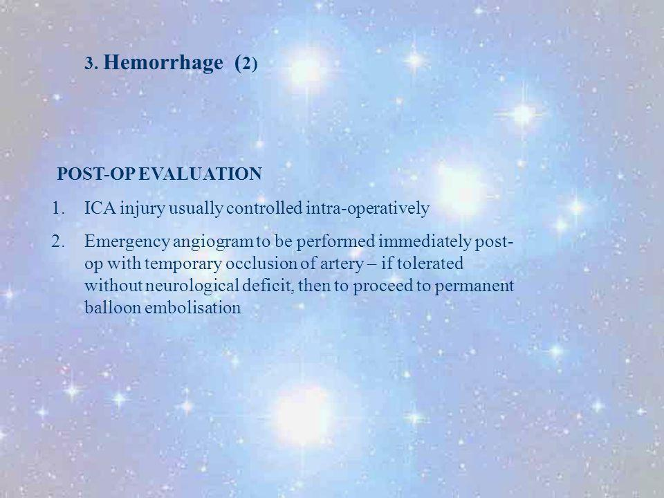 3. Hemorrhage (2) POST-OP EVALUATION