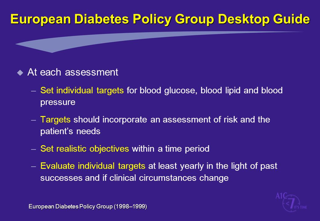 European Diabetes Policy Group Desktop Guide