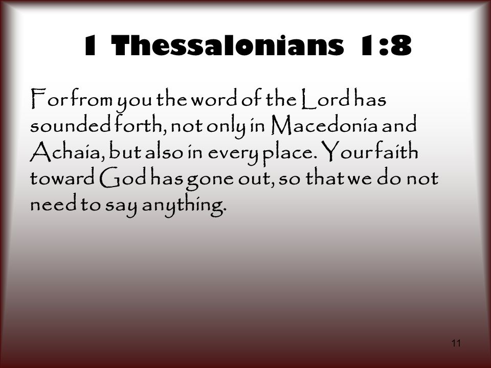 1 Thessalonians 1:8