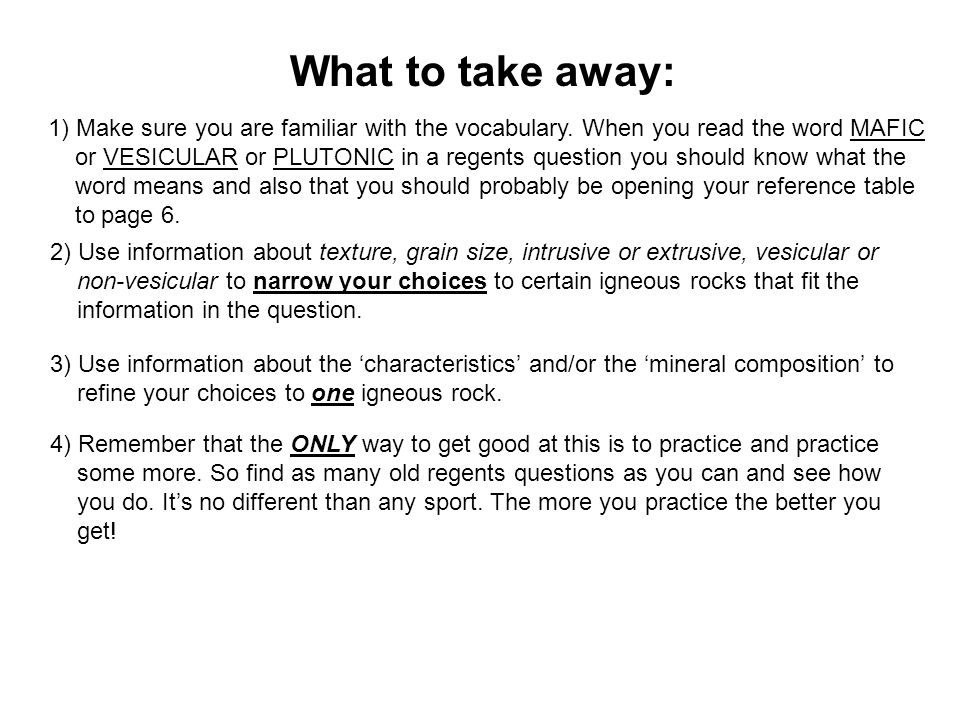 What to take away: 1) Make sure you are familiar with the vocabulary. When you read the word MAFIC.