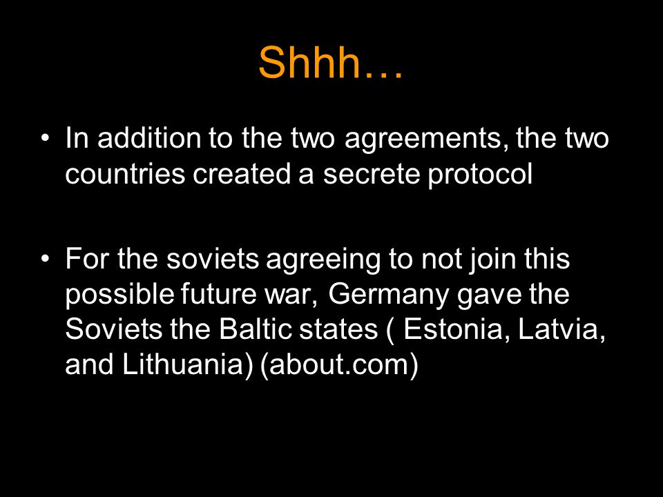 Shhh… In addition to the two agreements, the two countries created a secrete protocol.