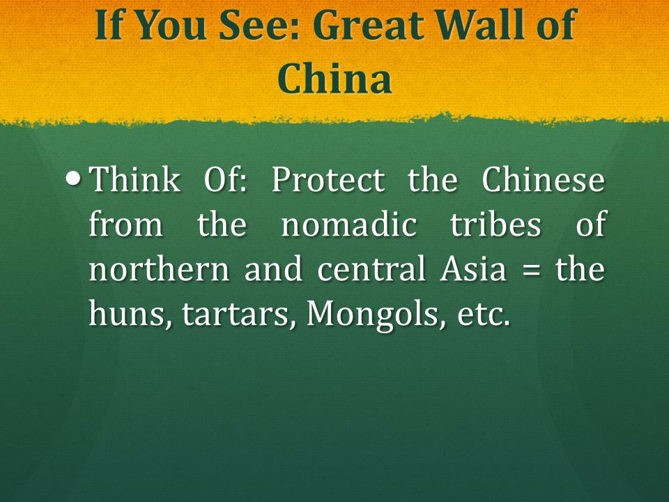 If You See: Great Wall of China