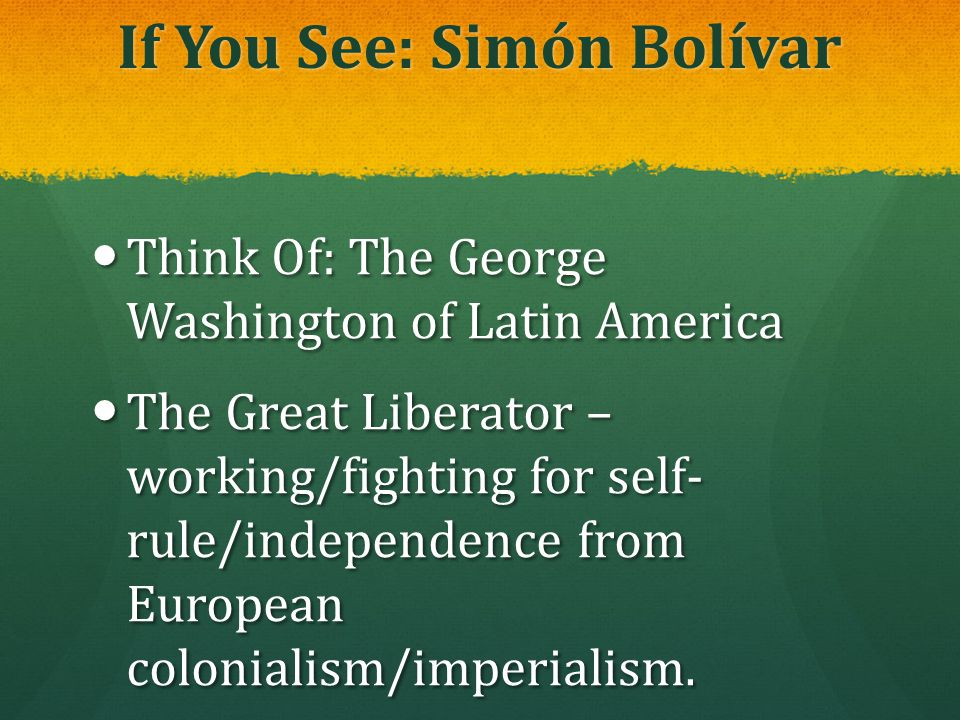 If You See: Simón Bolívar