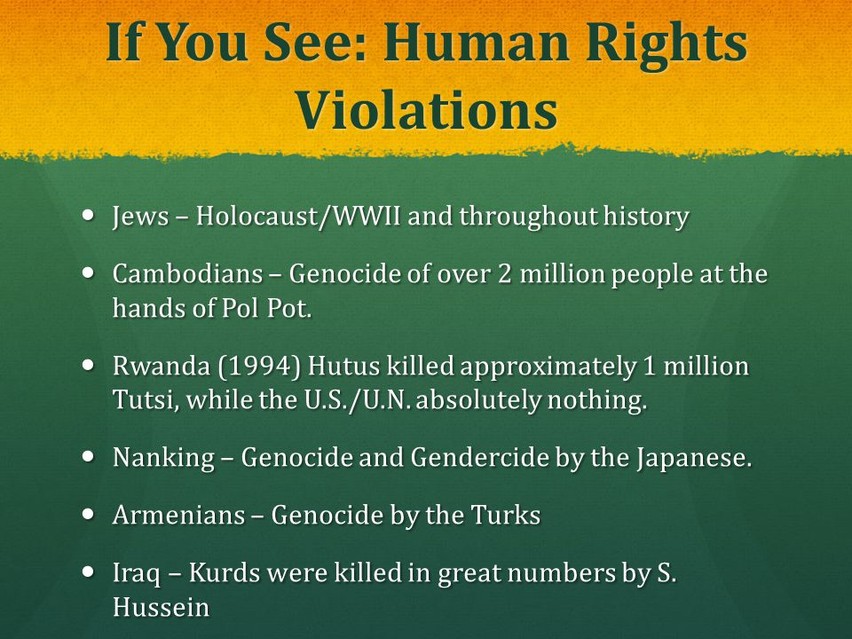 If You See: Human Rights Violations
