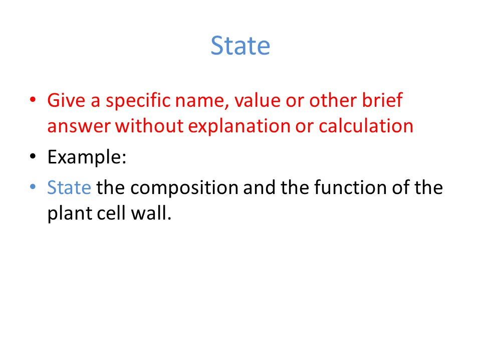 State Give a specific name, value or other brief answer without explanation or calculation. Example: