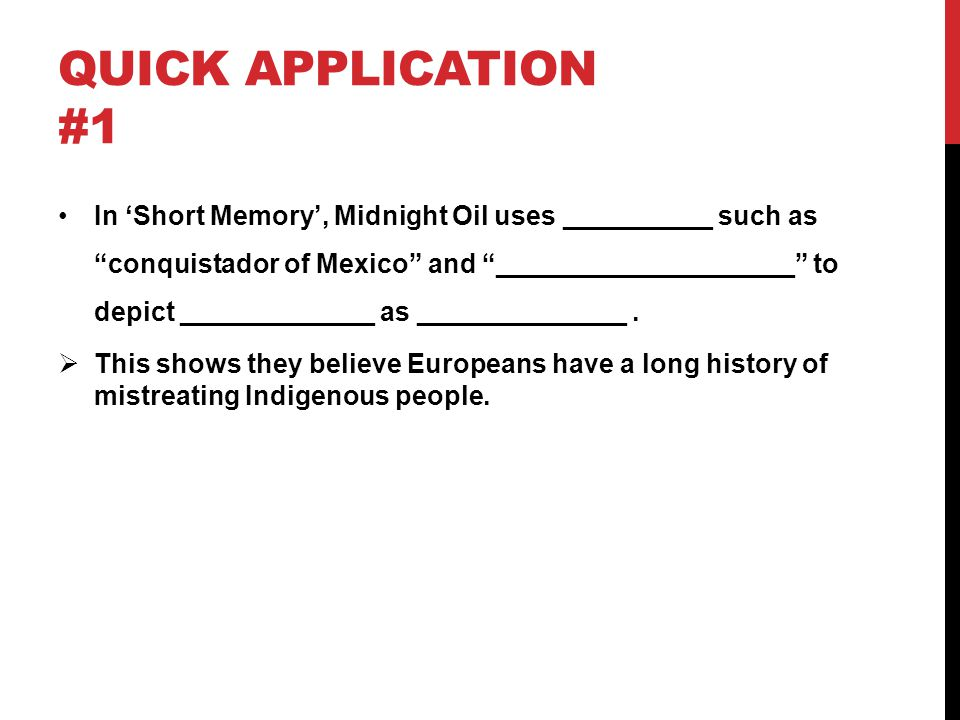 Quick application #1