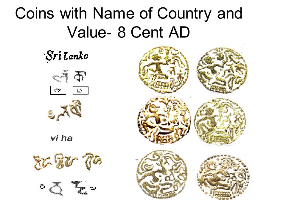 Coins with Name of Country and Value- 8 Cent AD