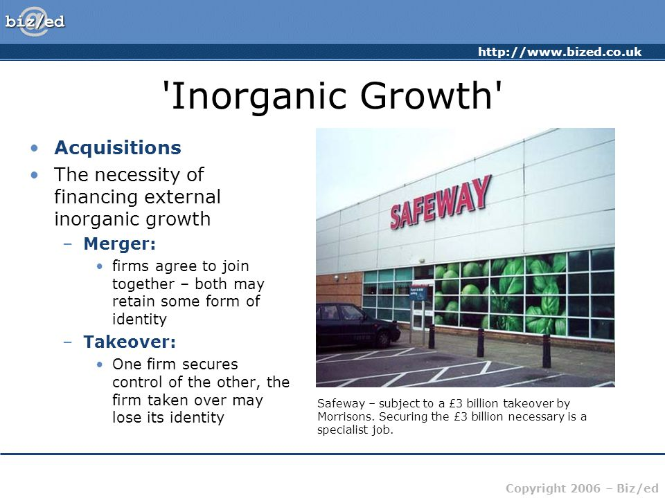 Inorganic Growth Acquisitions