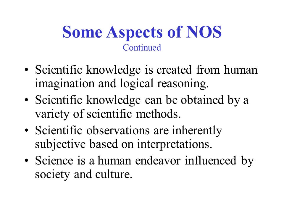 Some Aspects of NOS Continued